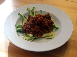 Pork Ragu with Zoodles
