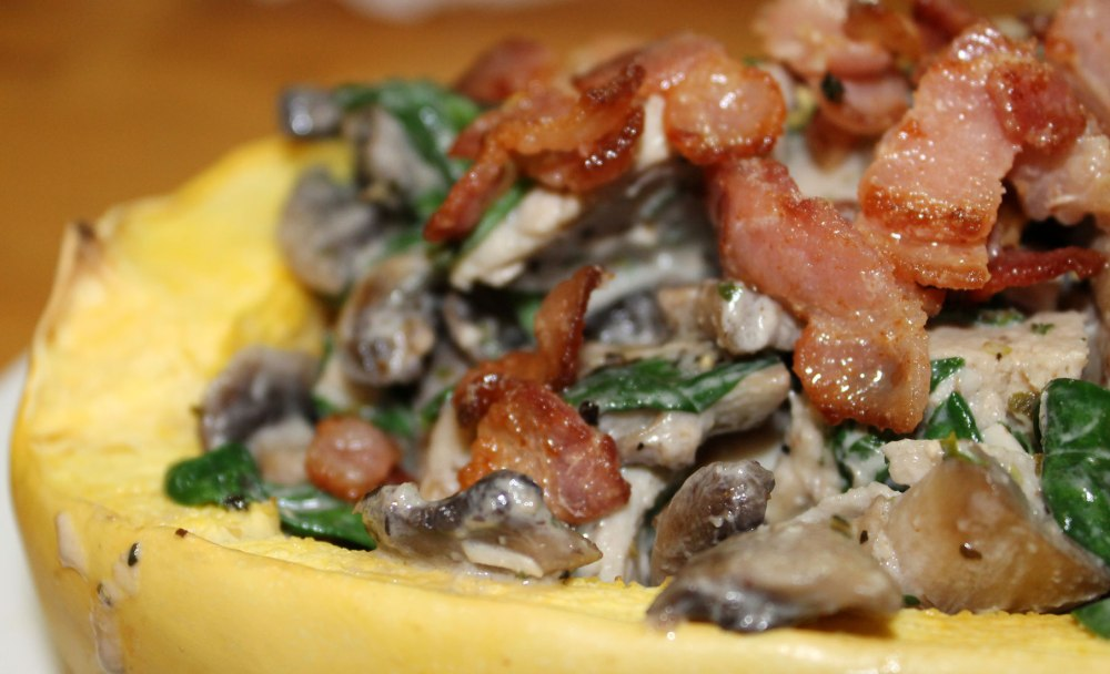 Chicken Bacon and Mushroom Alfredo With Spaghetti Squash (3/3)