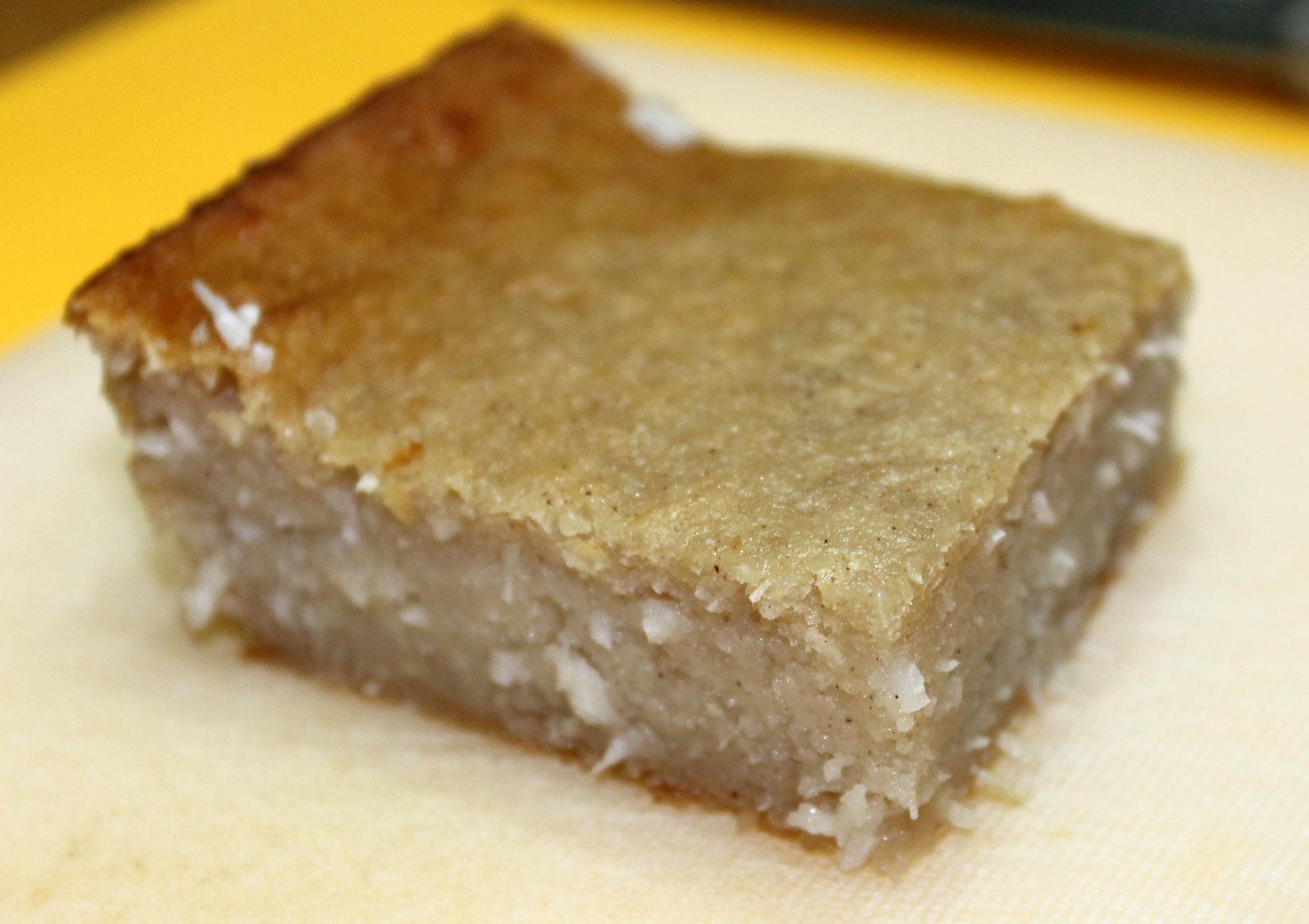 Cassava Cake With Coconut Cream